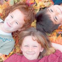 dzieci, jesień