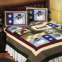 Bożonarodzeniowa narzuta na łóżko