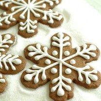 Płatki śniegu - pierniczki