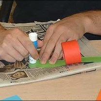 papierowy łańcuch na choinkę