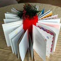 Stojak na kartki bożonarodzeniowe