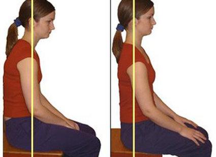Pozycja prawidłowego siedzenia