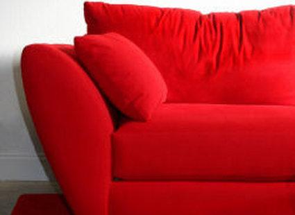 czerwony fotel