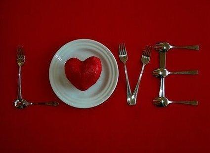 Dekoracja stołu na Walentynki