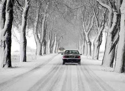 Jazda samocodem w zimie