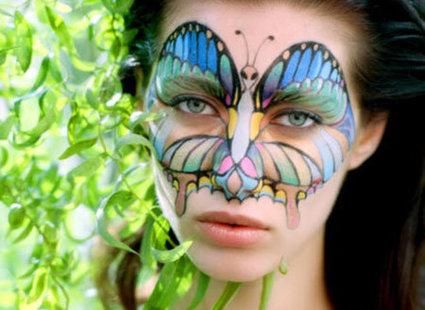 Makijaż motyl