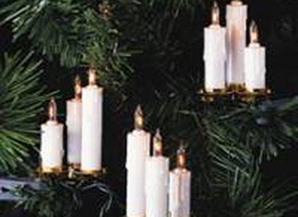 Oświetlenie choinkowe - świeczki