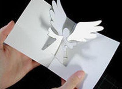 Марта гифки, объемная открытка с ангелами