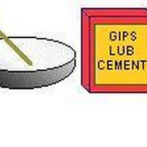 rozmieszaj gips lub cement