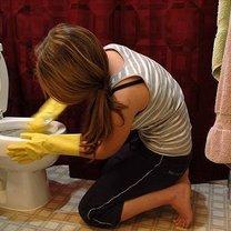 mycie muszli klozetowej