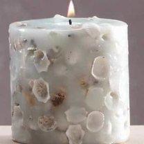 świece z muszelkami - zrób to sam