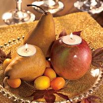 Świece z owoców