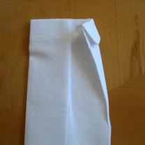 Składanie chusteczek - męska koszula 7