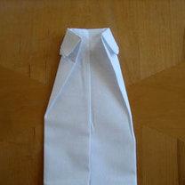 Składanie chusteczek - męska koszula 8