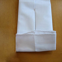 Składanie chusteczek - męska koszula 9