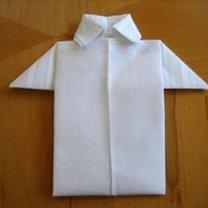 Składanie chusteczek - męska koszula 12