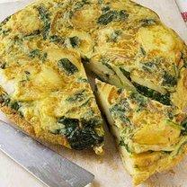 hiszpański omlet ze szpinakiem