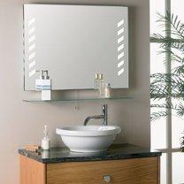 Oświetlenie łazienki - oświetlenie wbudowane w lustro