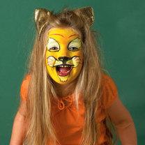makijaż lwa - przebrania i kostiumy na bal przebierańców lub Halloween