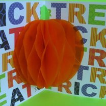 trójwymiarowa kartka z dynią na Halloween
