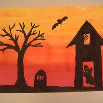 rysunek na Halloween - projekt dla dzieci