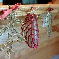 jesienne liście - dekoracja na jesień