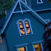 dekoracja okien na Halloween