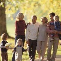 jesienny, słoneczny dzień spędzony z rodziną