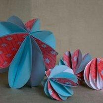 papierowe bombki na choinkę