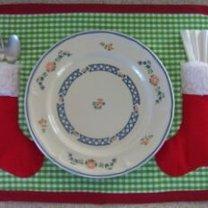 podkładka pod talerz z kieszonkami na Boże Narodzenie