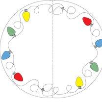 malowanie talerzy, wzór świąteczny