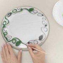 malowanie na talerzu