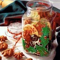 słoik na bożonarodzeniowe ciasteczka