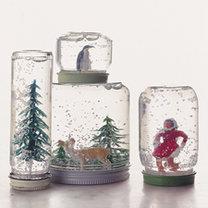 słoiki - kule ze śniegiem