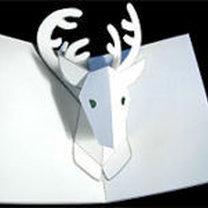 kartka bożonarodzeniowa - renifer