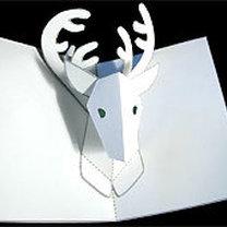 kartka bożonarodzeniowa z wyskakującym reniferem