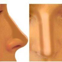 optyczne pomniejszenie nosa