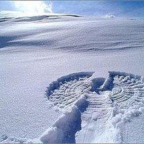 Anioł na śniegu
