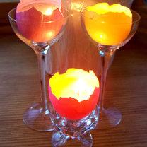 świecznik w skorupce jajka