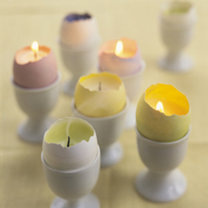 świecznik z jajka