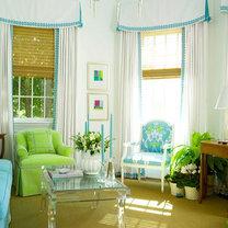 niebiesko zielony pokój dzienny