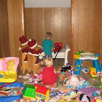 bałagan wśród zabawek