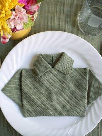 Składanie chusteczek - koszula