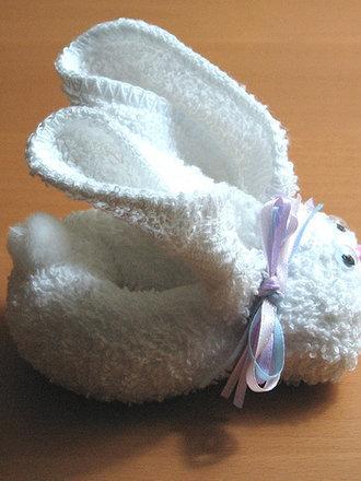 króliczek z ręcznika