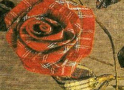 Róża ze wstążki koniec