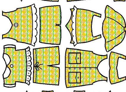 Ciuszki kolorowe dla papierowego ludzika