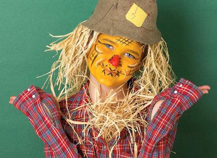 strach na wróble - makijaż na Halloween lub bal przebierańców
