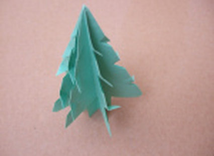 choinka origami 26