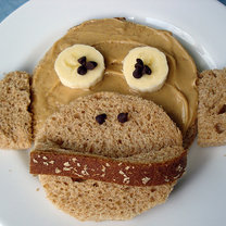 kanapka - małpka