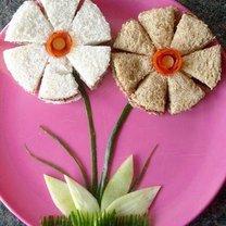 kanapka - kwiaty